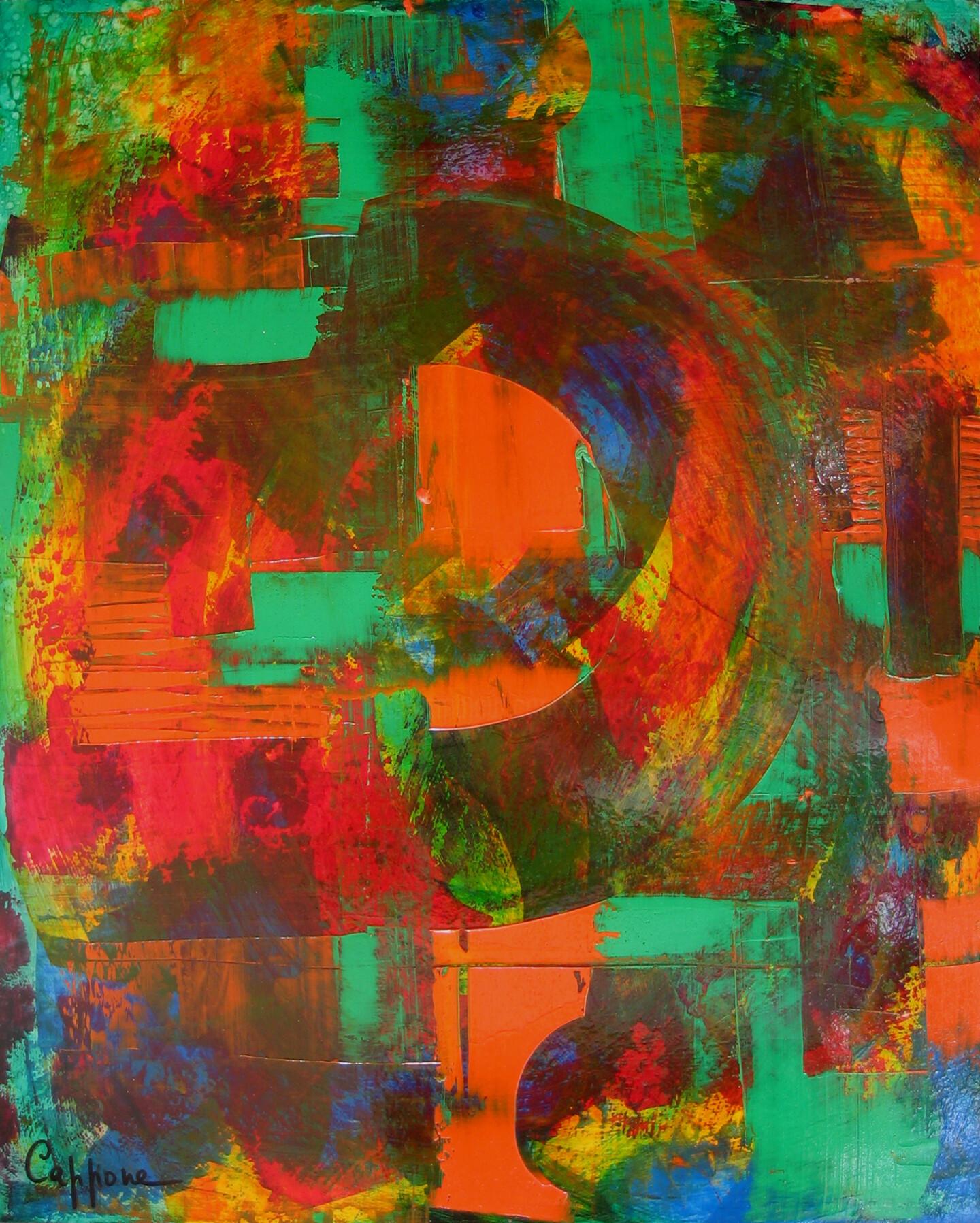 Cappone - Vert plus Orange - Green and Orange