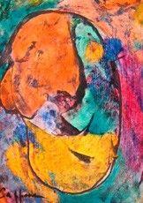 Christiane CAPPONE ne peint pas, elle projette ses émotions