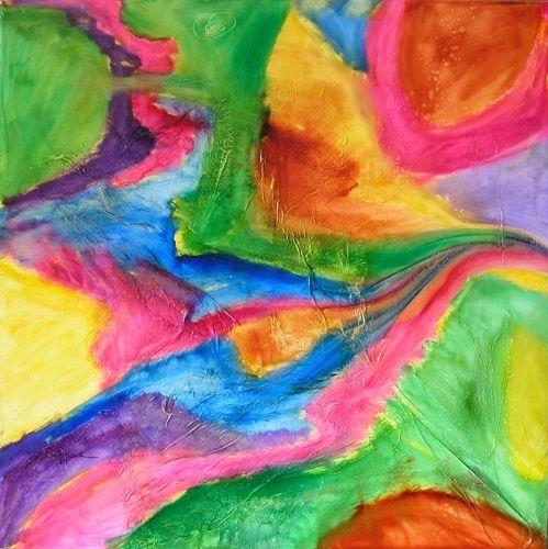« Tous Reliés - Everybody LINKED» -  Par Christiane Cappone Huile/Oil 100*100cm